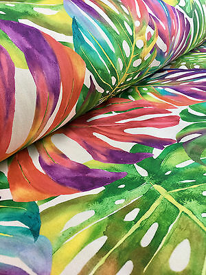 TROPICAL LEAVES Palm Leaf Curtain Upholstery Cotton Fabric Material -140cm wide