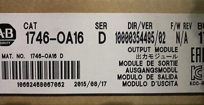 New Sealed Allen Bradley 1746-OA16 1746-0A16 Ser D SLC 500 Output Module Older