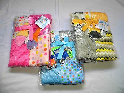 Baby Boy /girl Super Quality 3D Patchwork Effect Blankets With Fantastic Designs