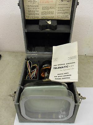 "Vintage TeleMatic 8"" Tele-Check TV Repair Man / Servicing Instrument"