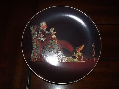 """Vintage """"Evening's Repose"""" Franklin Mint 8.5"""" Fine China Plate"""