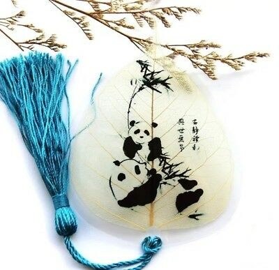 Artistic Panda Real Leaf Veins Bookmark Best Gift for you and for your friends
