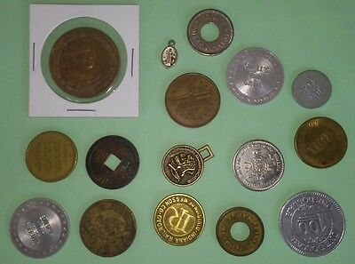 Absorted Mix Lot Of 16 Tokens & Medals