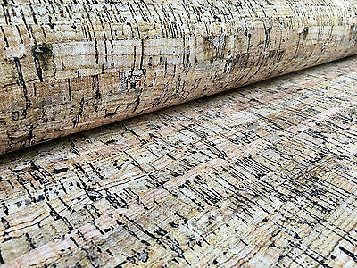 RUSTIC CORK Fabric Curtain Upholstery Material cork sheet cotton -140cm wide