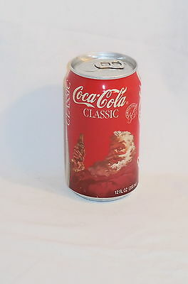 COCA COLA COKE CAN 1986 CHRISTMAS HOLIDAY 12oz UNOPENED EMPTY NOS D211