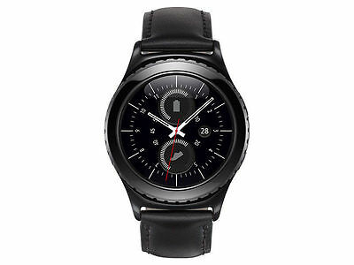 BRAND NEW Samsung Gear S2 Classic Smart Watch with Leather Band Black SM-R732