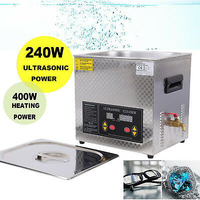 10L Ultrasonic Cleaner Heater Stainless Steel 400W Heating Power With Timer