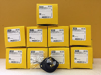 Hubbell 7487N (Lot of 9) 15 A, 125/250 VAC, 3 Pole, Receptacles.  New in Box!