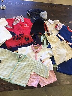 Vintage Boy Baby Toddler Clothes Lot 1960's  14+ Pieces