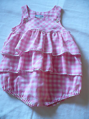 Vintage Toddler's Romper, JC Penneys, ToddleTime, Pink & White Gingham, Size 3