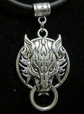Final Fantasy 7 VII Cloud Strife Inspired Cloudy Wolf Necklace