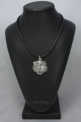 Norfolk Terrier, silver covered necklace, high qauality Art Dog