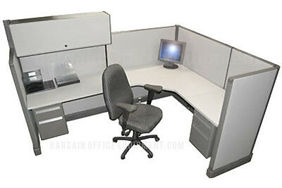 6x8 Herman Miller Medium Wall Office Cubicles with your Fabric & Paint Choice