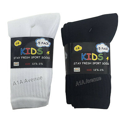 10 Pairs Boys Kids Cotton Rich Sport Socks Everyday Wear Sport School Socks