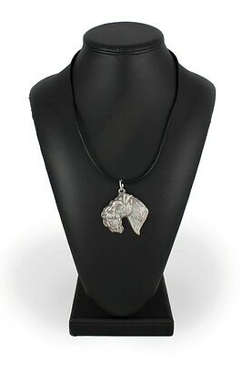 Kerry Blue Terrier, silver covered necklace, high qauality Art Dog