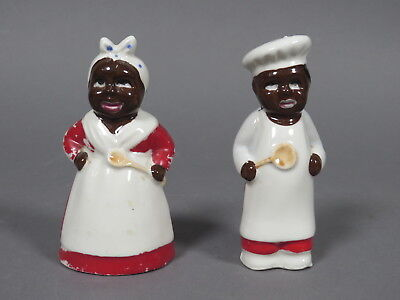 Vintage Black Americana Salt & Pepper Shakers Made in Japan