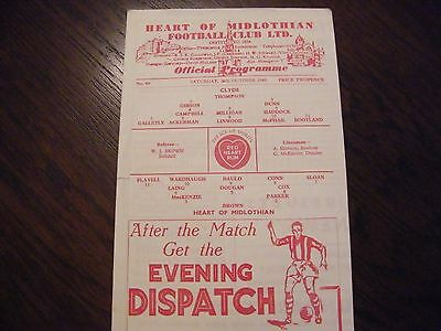 Hearts of Midlothian versus Clyde 1948/49 season football  programme