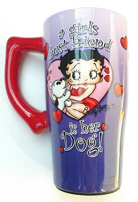 Betty Boop Tall Coffee Mug Girls Best Friend Is Her Dog
