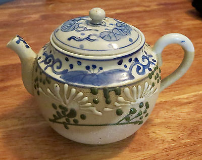 Early Japanese Sharkskin Glaze Banko Porcelain Teapot
