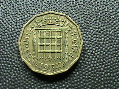 GREAT  BRITAIN    3  Pence    1964