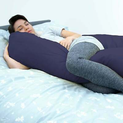 Maternity Pillow And Case 12 Foot Long Navy