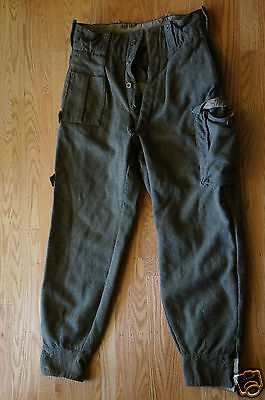 RARE 1952 Belgium Para Commando Special Forces Airborne Military Army Wool Pants