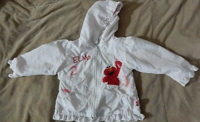 Girls 18 m Sesame Street Elmo Jacket White Spring Numbers jersey lined