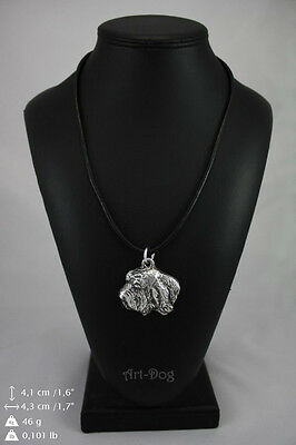 Basset Vendeen silver covered necklace, high quality keychain Art Dog
