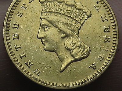 1874 $1 Gold Indian Princess One Dollar Coin- Rare
