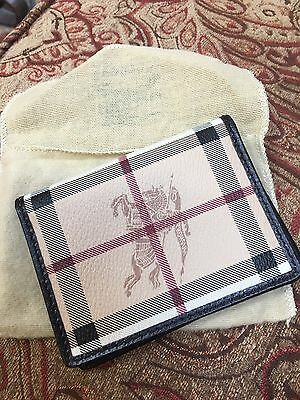 Authentic Burberry Wallet ID Case Card Case NEW