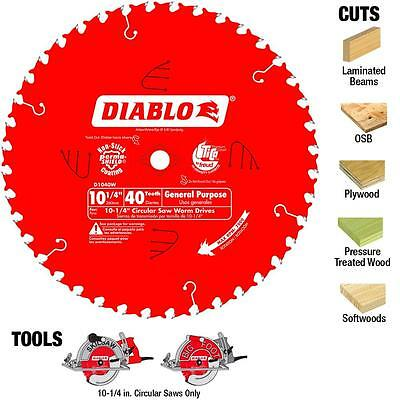 Diablo 10 Inch 60 Tooth Carbide Slide Miter Circular Saw