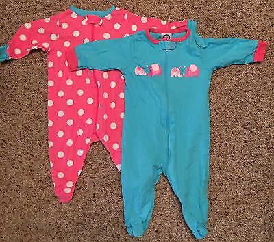 Lot Of 19 Piece Baby Girl Sleepers / Clothes  0-3 Months