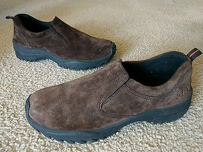 GBX Men's Suede Trail Climber Slip On Casual Shoes US 10.5M Brown/Black
