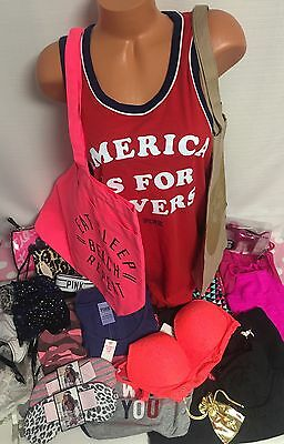 Nwt Victoria's Secret Lot Of 26 Pieces Of Pink And Vs Clothing And Accessories