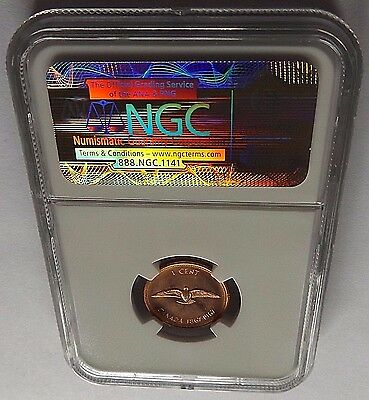 1967 Canada Ngc Ms64 Rd Dove Centennial One Cent 1C! Double Dated 1867-1967!