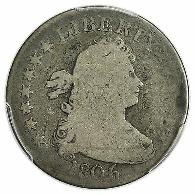 1806 Draped Bust Quarter PCGS G-4 Nice, Rare Early Silver Coin [3023.01]