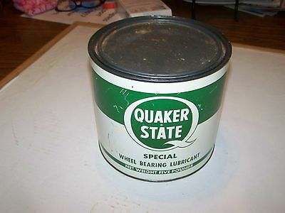 Vintage Quaker State Special Wheel Bearing Lubrication Grease Can 5 Lbs