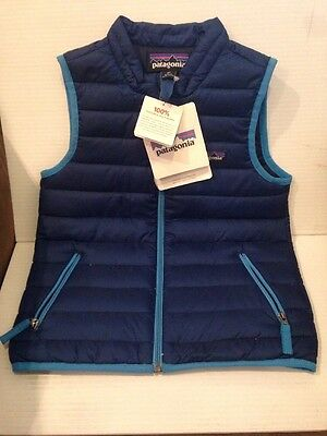 1 Of NEW Baby Down Sweater Vest Channel Blue 4T/Chb