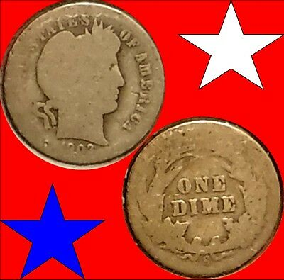 1903-S Key Date Barber Dime In Ag-G Condition @1Tb