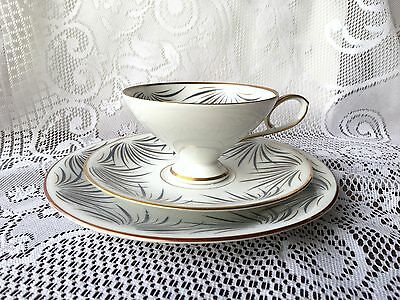 Edelstein Bavaria Germany 'trio' 23017 833 Tea Cup, Saucer & Plate blue gold 734