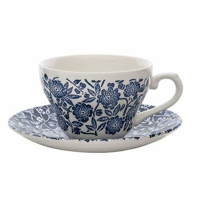 Victorian Calico by Queens - Tea Cup and Saucer Set (Made in England)