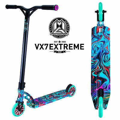 Madd Gear MGP VX7 Extreme Complete Scooter Swirls Rave Full Wrap - New 2017