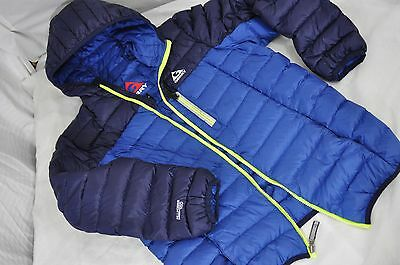 Boys Youth GERRY Puffer Down 650 Fill Power Hooded jacket L 14-16 Packable