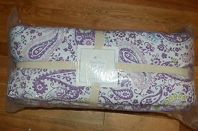 Pottery Barn Brooklyn Crib Bumper Baby Bed Lavender Paisley One Size Floral #74