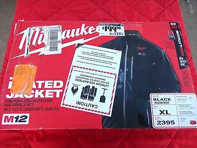Milwaukee M12™ Heated Jacket Kit 2395-XL Black, with Battery, Holder & Charger!