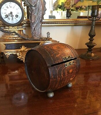 Antique Footed Wood Box Or Possibly Tea Caddy