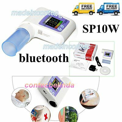 Hand-held  SPIROMETER Equipment Bluetooth, Checking Lung, MouthPieces,Software