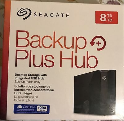 Brand New Seagate Backup Plus Hub 8TB USB 3.0 Desktop External Hard Drive PC&MAC