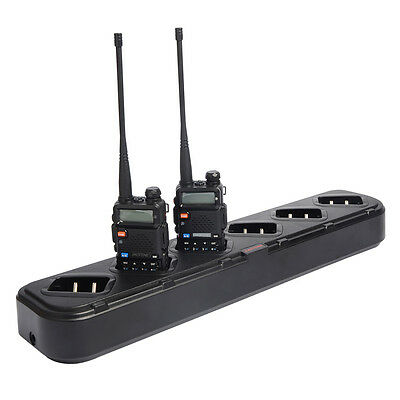Six-Way Charger desk for POFUNG Baofeng UV5R UV-5RE TH-F8 Walkie Talkie Battery