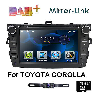 "8"" Fit for Toyota Corolla Car DVD Player GPS System Stereo Bluetooth iPod Radio"